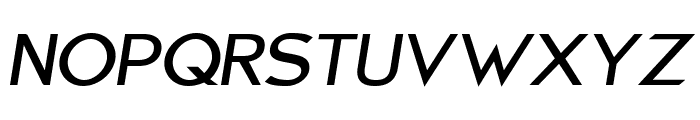 Charger Sport Defiance Bold Extended Oblique Font UPPERCASE