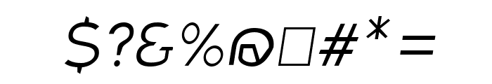 Charger Sport Extralight Extended Oblique Font OTHER CHARS