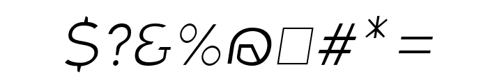 Charger Sport Hairline Extended Oblique Font OTHER CHARS