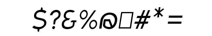 Charger Sport Light Oblique Font OTHER CHARS