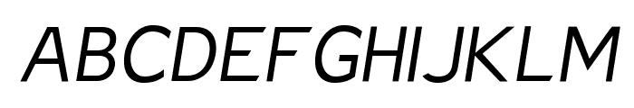 Charger Sport Light Oblique Font UPPERCASE