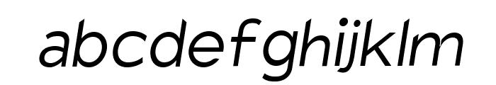 Charger Sport Light Oblique Font LOWERCASE