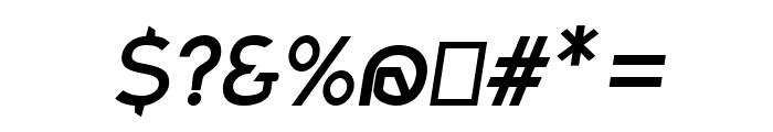 Charger Sport SemiBold Oblique Font OTHER CHARS