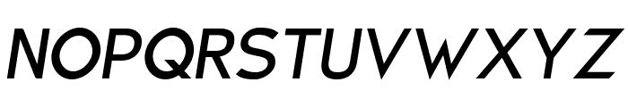 Charger Sport SemiBold Oblique Font UPPERCASE
