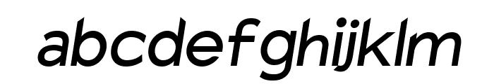 Charger Sport SemiBold Oblique Font LOWERCASE
