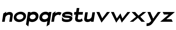 Charger Sport Ultrablack Extended Oblique Font LOWERCASE