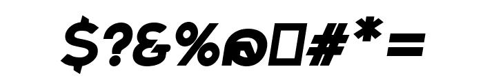 Charger Sport Ultrablack Oblique Font OTHER CHARS