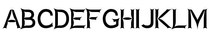 Charger Zwolnij Panike Font UPPERCASE
