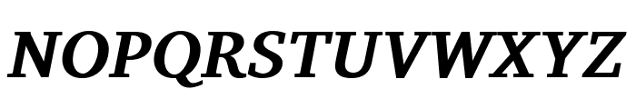 Charis SIL Bold Italic Font UPPERCASE