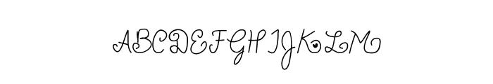 Charleesinluvv Font UPPERCASE