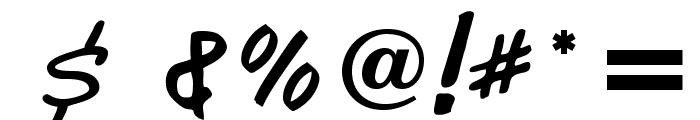 CharlieChadOpti-Script Font OTHER CHARS