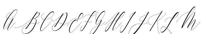 Charlotte Calligraphy Slant Font UPPERCASE