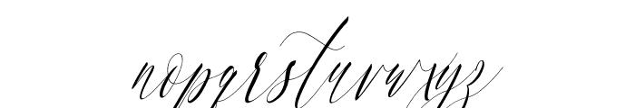 Charlotte Calligraphy Slant Font LOWERCASE