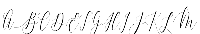 Charlotte Calligraphy Font UPPERCASE