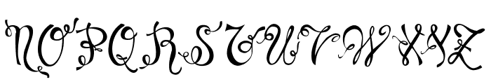 Charming Normal Font UPPERCASE