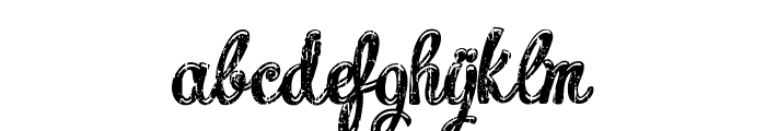 Charming shabby demo Font LOWERCASE