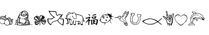 CharmingSymbols Font LOWERCASE