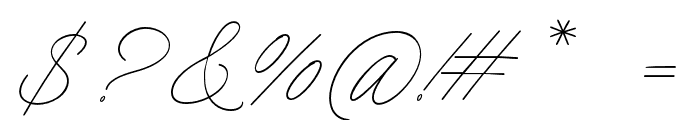 Charmline Script Personal Use Font OTHER CHARS