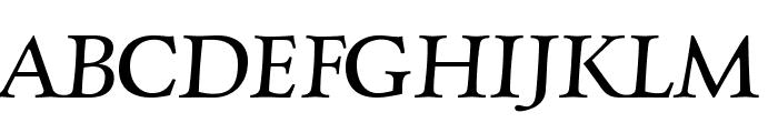 Charpentier Renaissance Pro Italic Font UPPERCASE