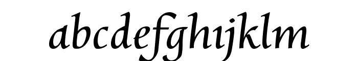 Charpentier Renaissance Pro Italic Font LOWERCASE