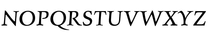 Charpentier Renaissance Reduced Oblique Font UPPERCASE