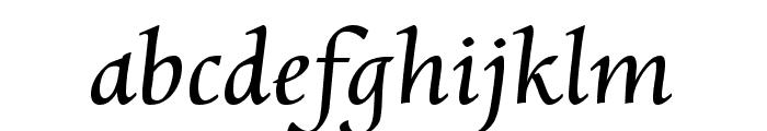 Charpentier Renaissance Reduced Oblique Font LOWERCASE