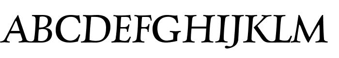 CharpentierRenaissancePro-Itali Font UPPERCASE
