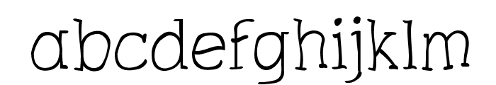 Charrington Roughened Font LOWERCASE