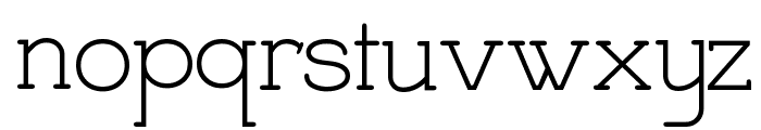 Charrington Strewn Font LOWERCASE