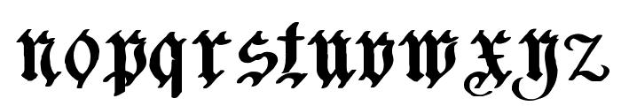 Charterwell Bold Font LOWERCASE