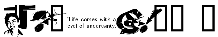 Chase Zen Jackulator  Font OTHER CHARS
