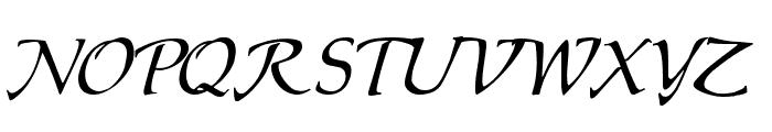 Chaucer Regular Font UPPERCASE