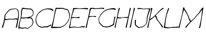 Chavenir Italic Font UPPERCASE