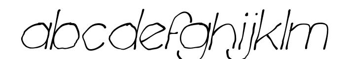Chavenir Italic Font LOWERCASE
