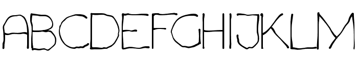Chavenir Font UPPERCASE