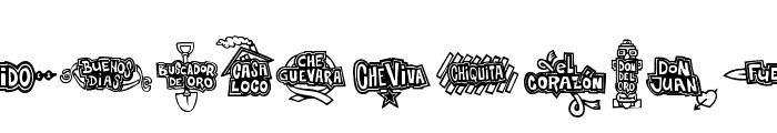 Che Viva Banana  Font UPPERCASE