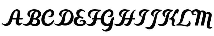 CheGuevara Barry Orange Font UPPERCASE