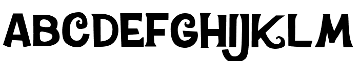 CheGuevara ChocolateFactory Regular Font LOWERCASE