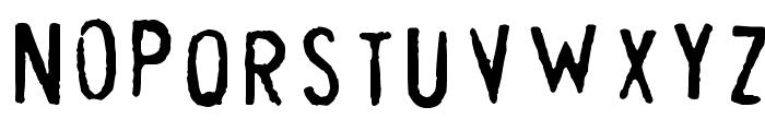 Cheapskate Fill Font UPPERCASE