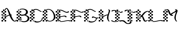 CheckerHat Font UPPERCASE