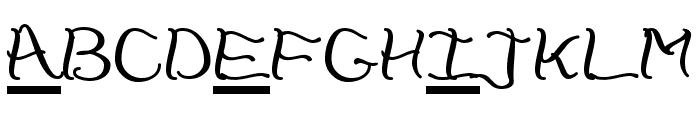 CheckerHat Font LOWERCASE