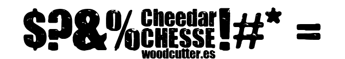 Cheedar Cheese Font OTHER CHARS