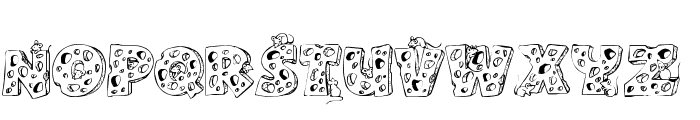 Cheese and Mouse Font UPPERCASE