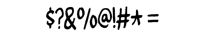 CheesegumDEMO Font OTHER CHARS
