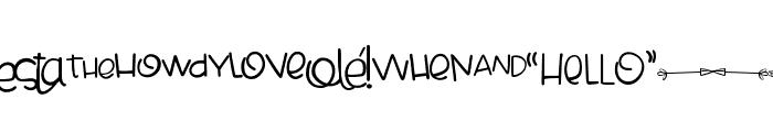 Cheesy Enchilada Doodles Regular Font LOWERCASE