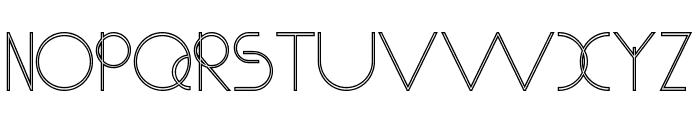 Chempaka Ranting Outline Font UPPERCASE
