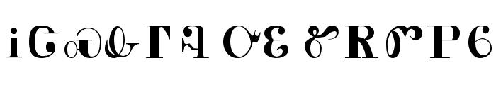 Cherokee Font UPPERCASE