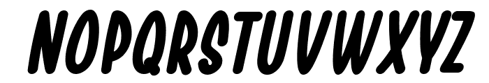 Chesan Bold Italic Font UPPERCASE