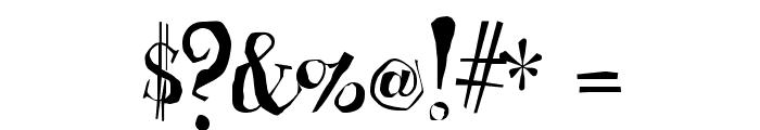 Cheshirskiy Cat Roman Font OTHER CHARS
