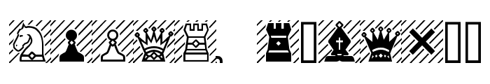 Chess-7 Font UPPERCASE